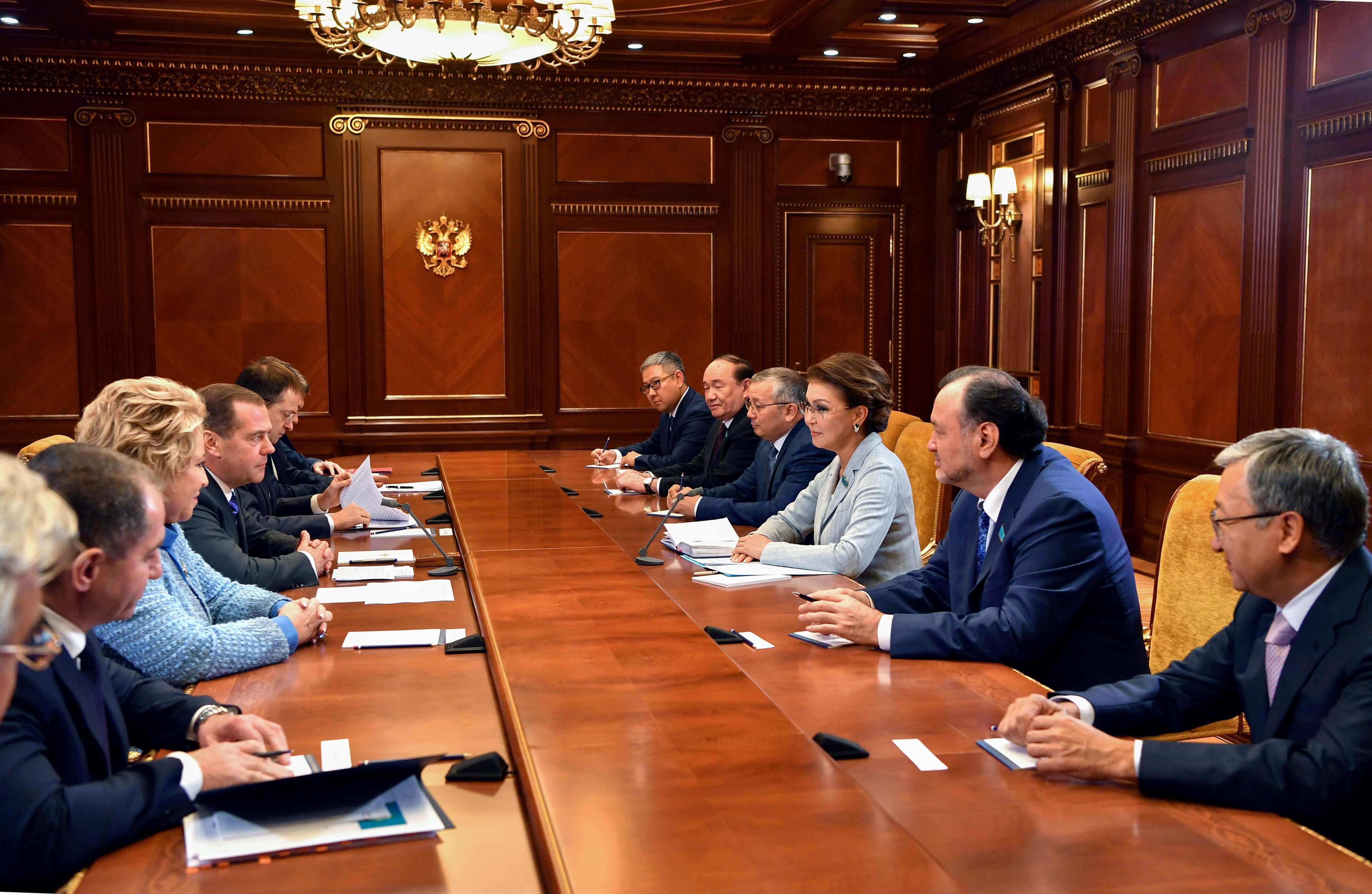 Дариға Назарбаева Дмитрий Медведевпен кездесті