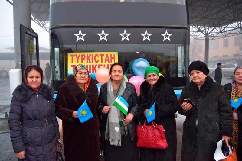 Запущен международный автобусный маршрут Туркестан – Ташкент