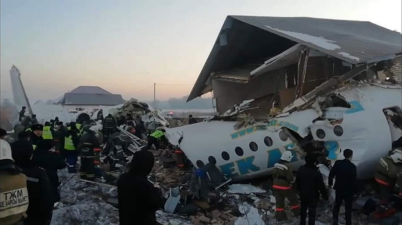 Самолет упал близ Алматы