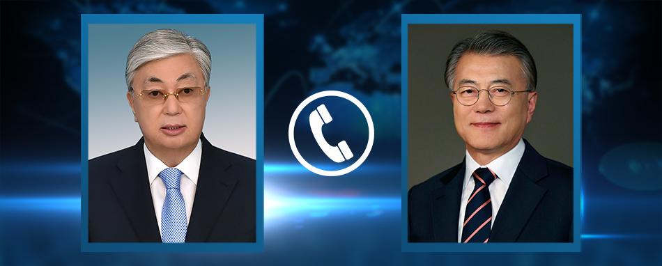 Касым-Жомарт Токаев поговорил с президентом Республики Корея Мун Чжэ Ином