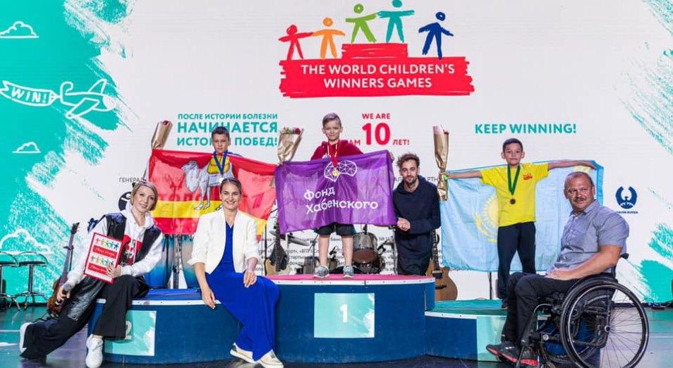 Победившие онкологию юные казахстанцы завоевали медали Всемирных игр победителей