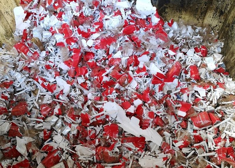 Алматы облысында 12 тонна контрабандалық жүк жойылды