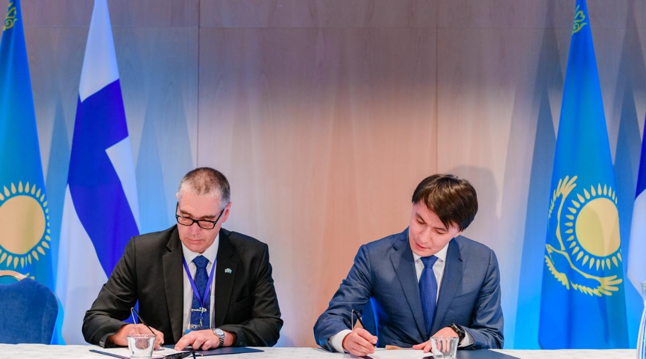 Подписали меморандумы в сфере инновационной деятельности Казахстан и Финляндия
