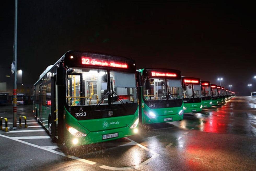 Алматыда №32 бағыт бойынша жаңа автобустар жүре бастады