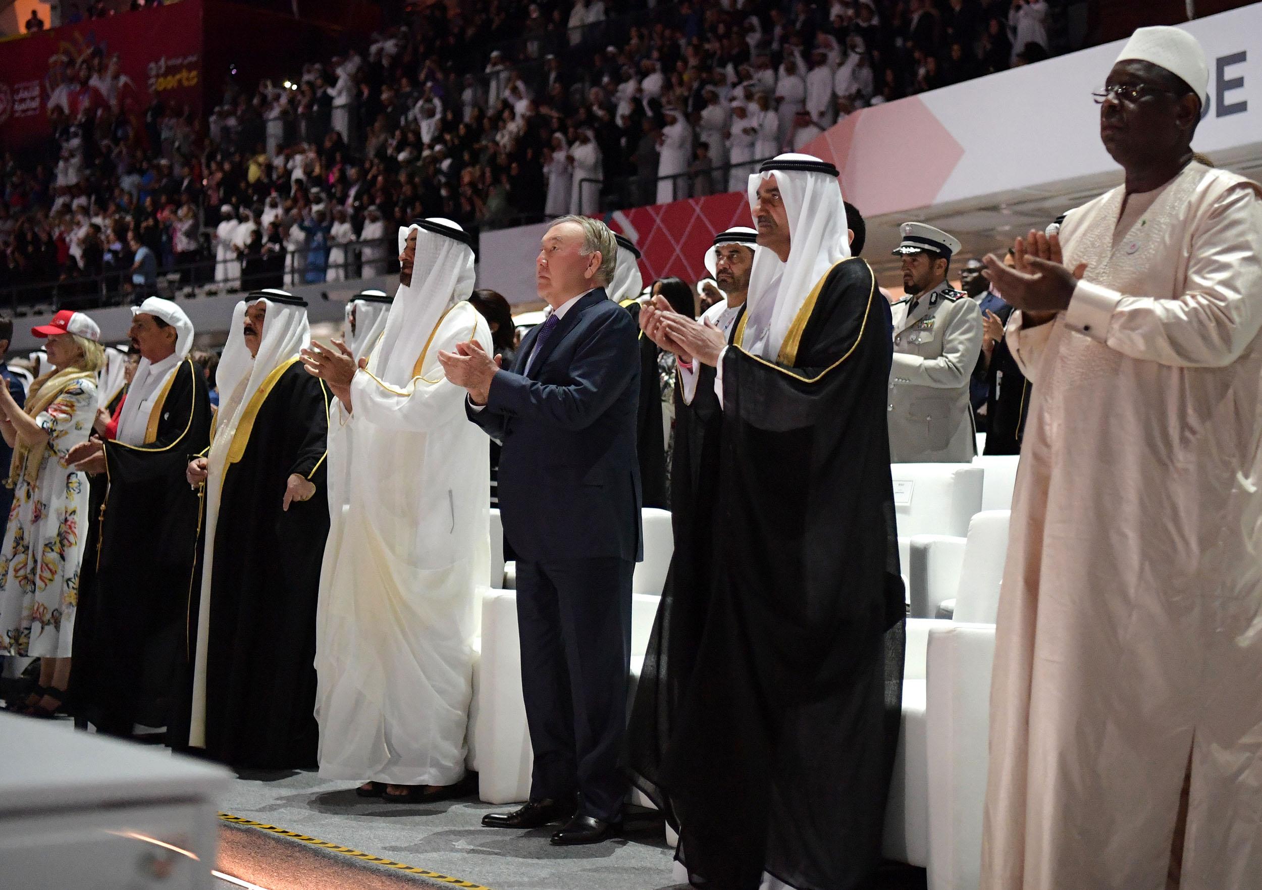 Президент Казахстана принял участие в церемонии открытия Всемирных специальных Олимпийских игр в ОАЭ