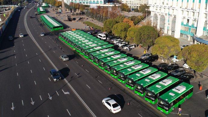 Алматыға 200 жаңа автобус әкелінді