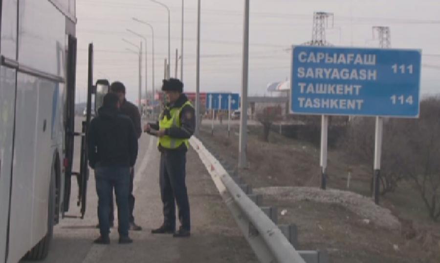 В  Шымкенте за сутки выявили 250 нарушений ПДД водителями автобусов