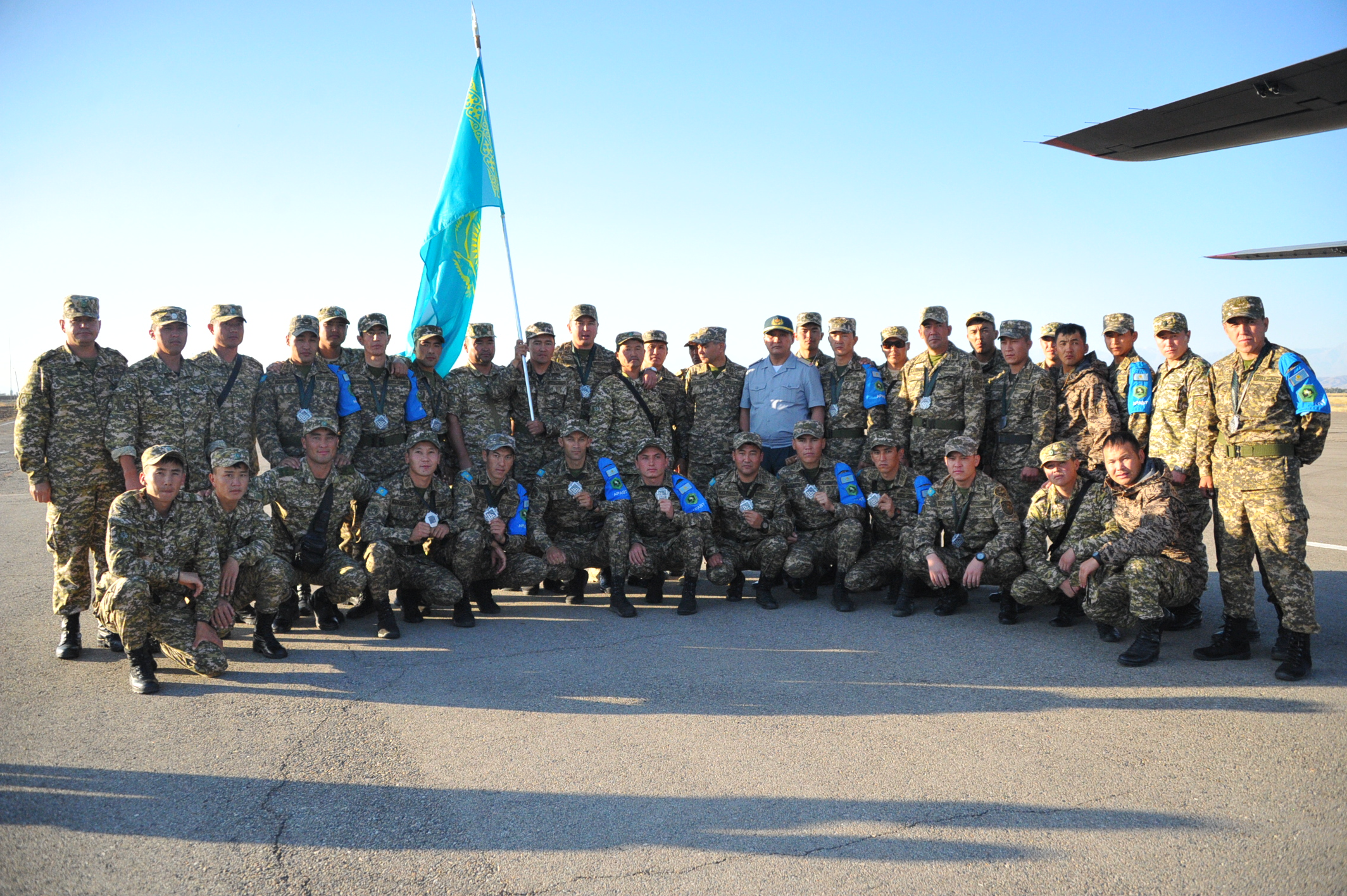 Первые призеры Армейских игр вернулись в Казахстан