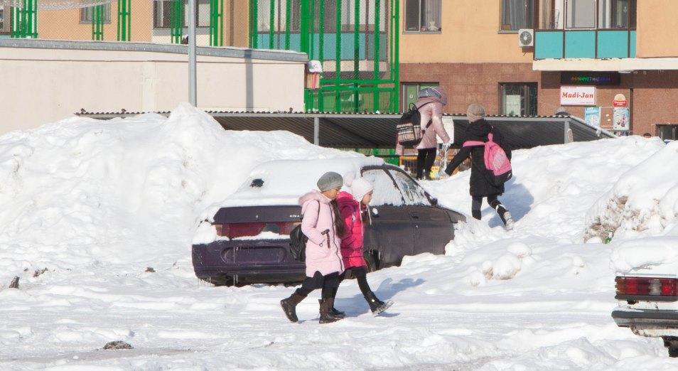 Как убирали снежные завалы в Нур-Султане