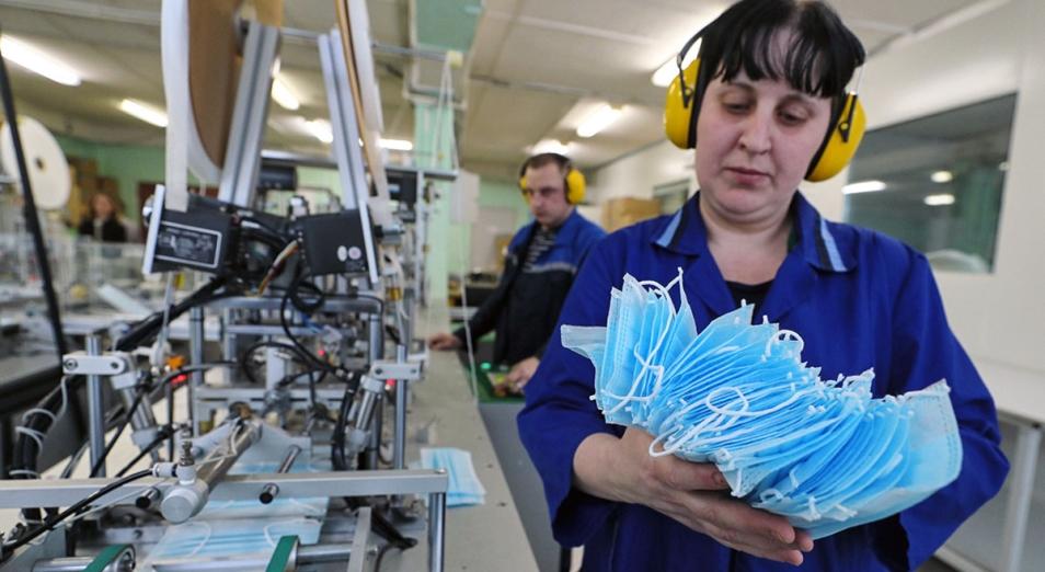 Производство медицинских масок увеличили почти в пять раз в Казахстане